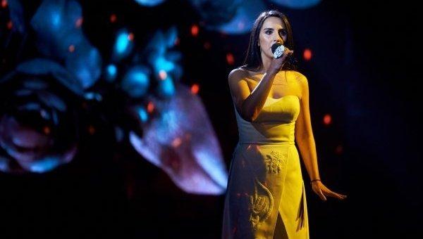 Джамала в ходе национального отбора на Евровидение-2016 в Киеве