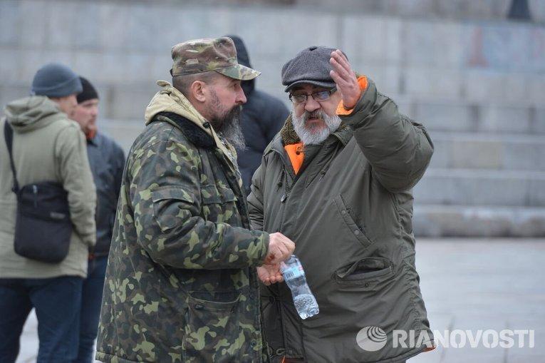 """Немногочисленный митинг """"РПС"""" на Майдане"""