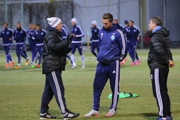 Открытая тренировка Динамо-Киев перед матчем с МанСити