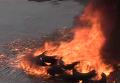 Протест таксистов у КГГА. Видео