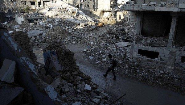 Разрушения в Дамаске