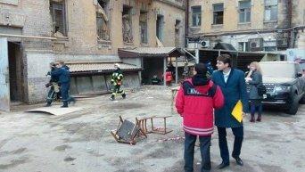 Обвал в Киеве. Архивное фото