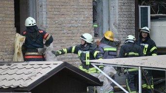 Разбор завалов в Киеве после обрушения дома