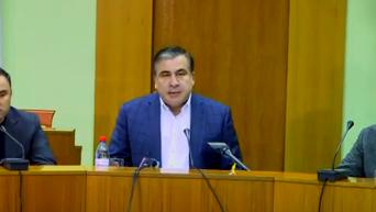 Саакашвили выгнал с совещания представителя СБУ. Видео