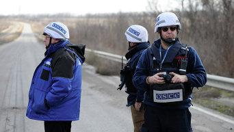 Наблюдатели ОБСЕ на Донбассе. Архивное фото