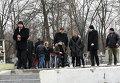 Геннадий Кернес на месте убийства Юрия Демента в Харькове