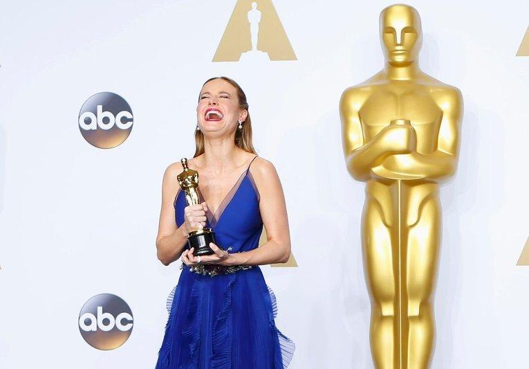 Бри Ларсон во время 88-й церемонии вручения премии Оскар в Голливуде