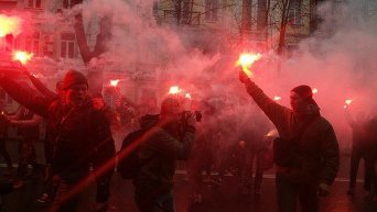 Протест Азова под стенами СИЗО СБУ