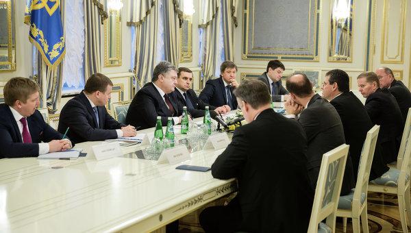 Встреча Петра Порошенко и вице-президента Еврокомиссии по энергосоюзу Марош Шефчович