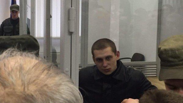 Сергей Олейник на заседании апелляционного суда Киева