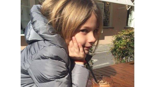 Дочь Александра Шовковского и Ольги Аленовой Александра в Италии
