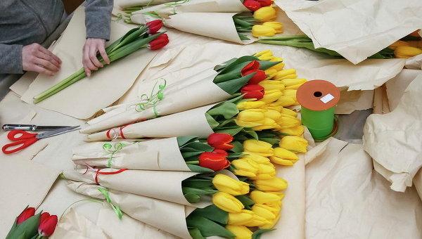 Подготовка к 8 марта в Киеве. Архивное фото