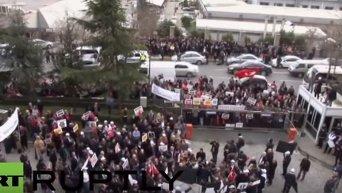 Митинг в Турции. Видео