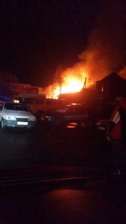 Мощный взрыв и пожар в Чернигове