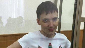 Надежда Савченко в суде. 9 марта 2016 года