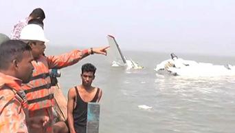 Спасательная операция на месте крушения Ан-26 в Бангладеш. Видео