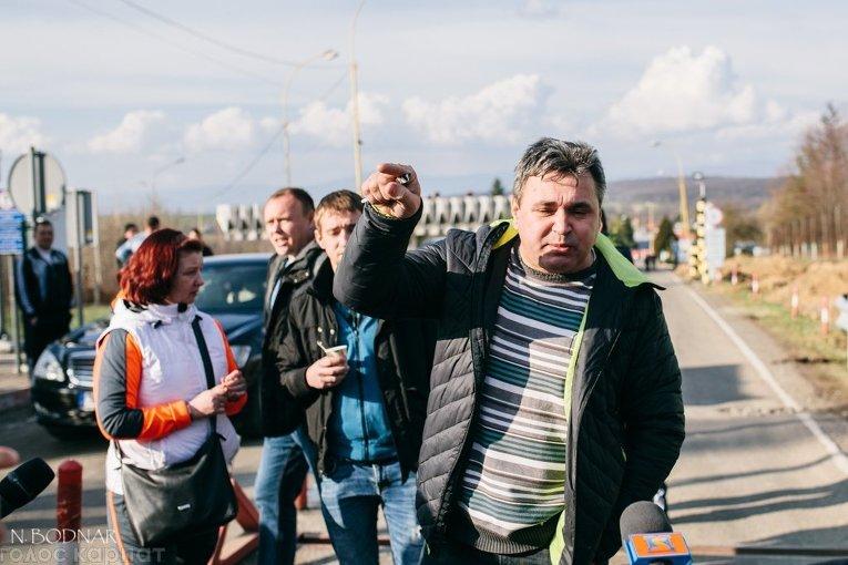 Блокирование движения на украинско-словацкой границе
