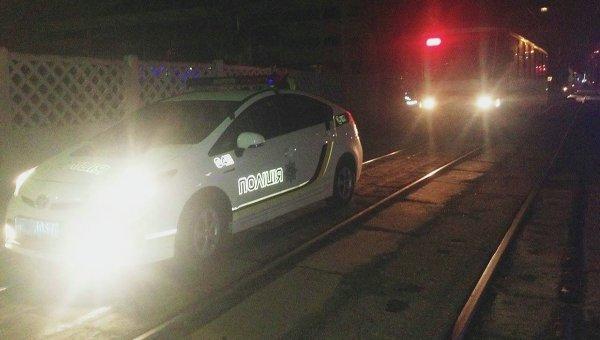 Задержание пьяного водителя трамвая в Киеве