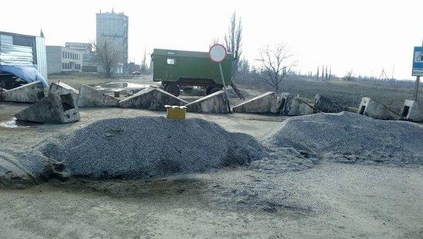 Блокирование автодороги Николаев-Днепропетровск