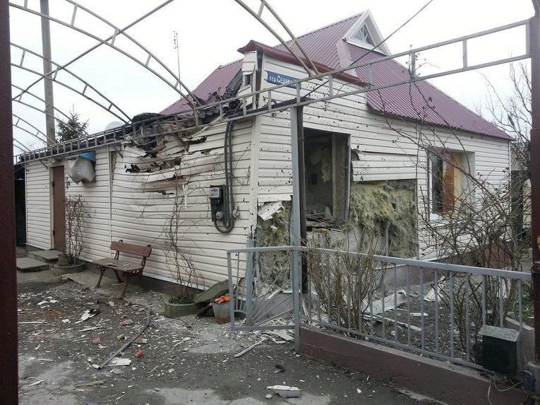 Обстрелянный жилой сектор Авдеевки