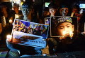 Тибетские активисты во время акции протеста в Хайдарабаде