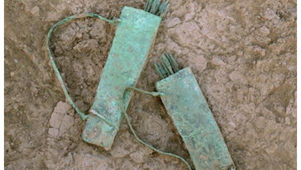 Коллекция оружия, выполненная в бронзе и датированная Железным веком, найдена в Омане