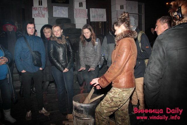 Акция протеста под управлением полиции в Виннице