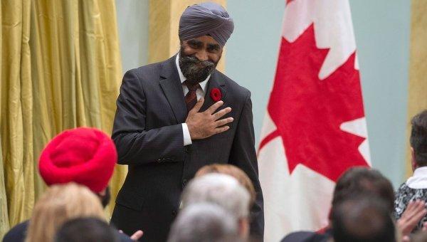 Министр национальной обороны Канады Харджит Сингх Сейджжан. Архивное фото