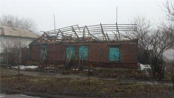 Разрушенный город Дебальцево в зоне АТО
