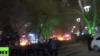 Первые секунды после взрыва в Анкаре