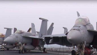 Авианосец США присоединился к масштабным учениям в Южной Корее. Видео