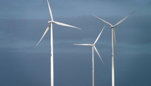 Ветровые турбины, производящие электроэнергию