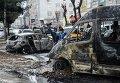 Последствия столкновения курдов и полиции в Диярбакыре.