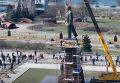Запорожье. Снос самого большого Ленина в Украине. Видео