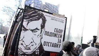 В Одессе разгромили автобус с агитацией против Саакашвили