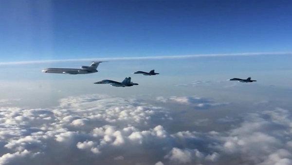 Вылет самолетов ВКС РФ с авиабазы Хмеймим в Сирии