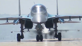Российский бомбардировщик Су-34
