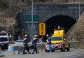 Последствия пожара после ДТП в Японии