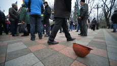Протесты шахтеров под Радой