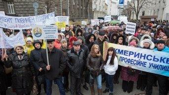 Пикет работников ПТУ у Администрации президента