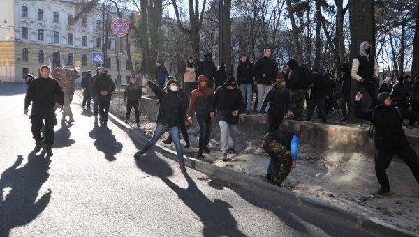 Столкновение с участием полиции во Львове