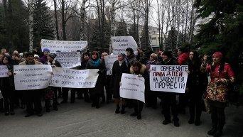 Митинг преподавателей ПТУ в Харькове