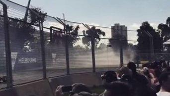 Видео аварии с болидом Алонсо на этапе Формулы-1