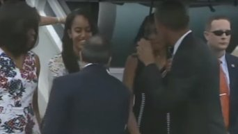 Прибытие Барака Обамы на Кубу. Видео