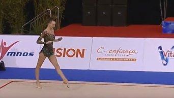 Украинская гимнастка грациозно завоевала два золота Кубка мира. Видео