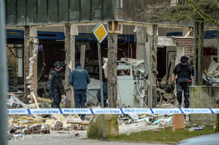 Взрыв прогремел в одном из офисов пригорода Стокгольма, Швеция