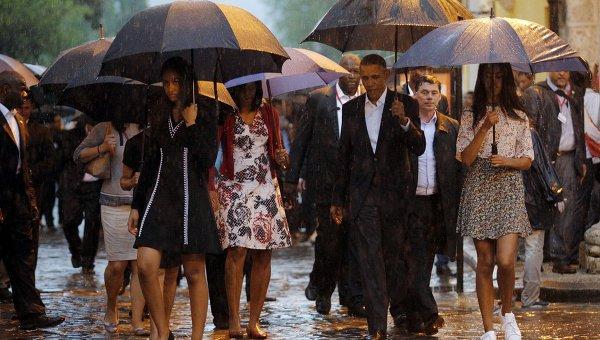 Трехдневный визит президента США Барака Обамы с семьей на Кубу