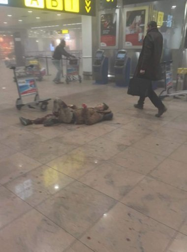 Последствия взрыва в аэропорту Брюсселя