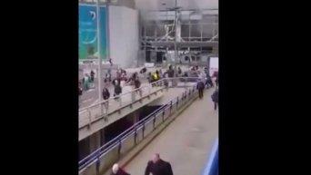 Взрывы в аэропорту Брюсселя. Видео