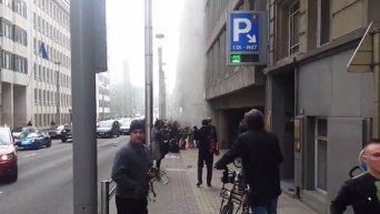 Взрыв в метро Брюсселя. Видео